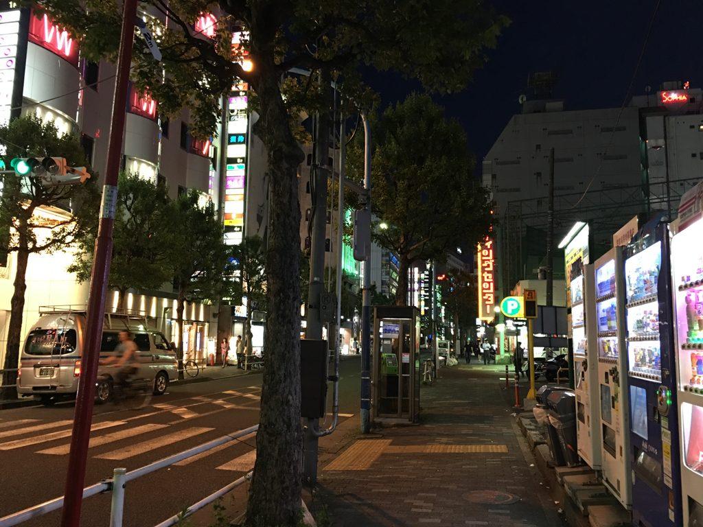 新宿のバッティングセンター