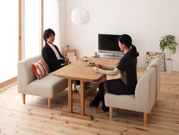 1LDKの対面テーブル