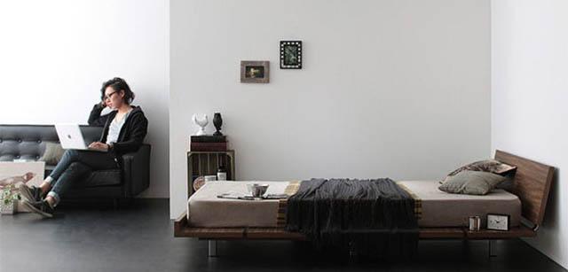 クールなロータイプベッド