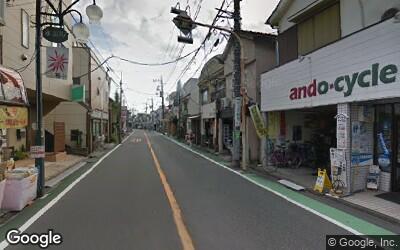 永福町駅近くの商店街