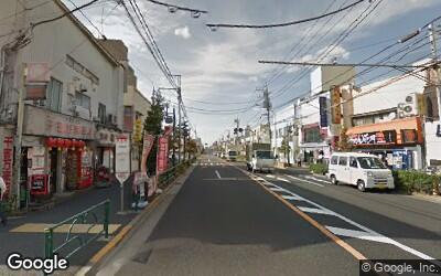 永福町駅前の大通り