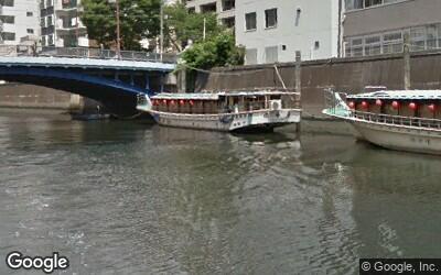 浅草橋駅付近にある神田川