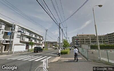 花小金井駅から少し離れた街並み