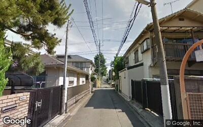 花小金井駅付近の一戸建てが多い住宅街