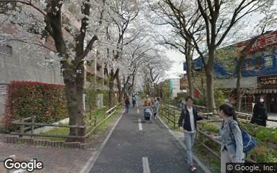花小金井駅近くの遊歩道