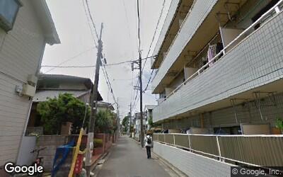 花小金井駅付近の住宅街の様子