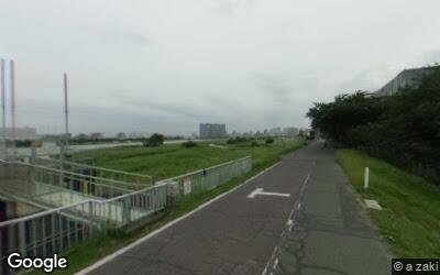 多摩川沿いの様子