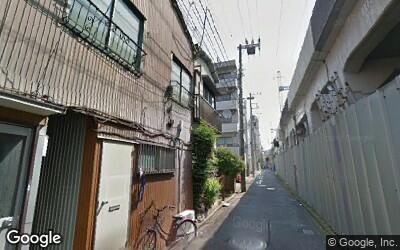 高架横の道