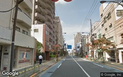 旧白山通りの街並み