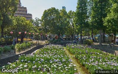 北綾瀬駅南側の公園