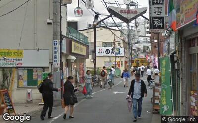 東側の商店街通り