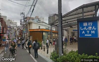 西武新宿線中井駅前