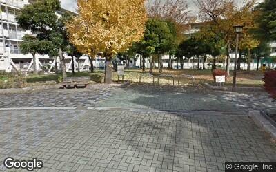 大島駅にある住宅街の公園