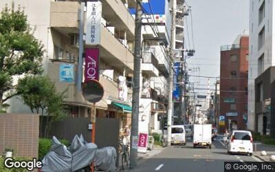 大島駅にある住宅街のスーパー