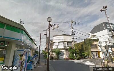 富士見台駅前の風景