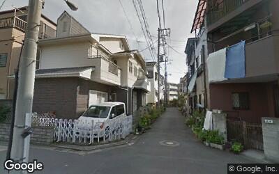 一之江駅周辺の住宅街の風景