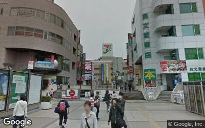 松戸駅東側のデッキ