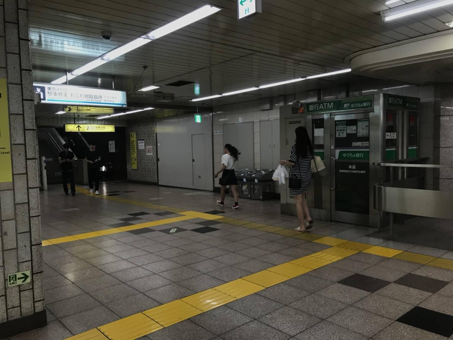 氷川台駅構内 ATM
