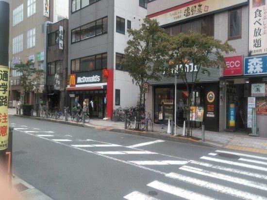 田無駅徒歩5分ほどの飲食店