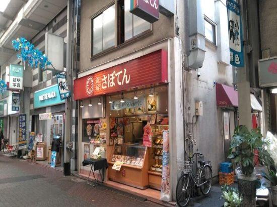 商店街の中の飲食店