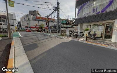 江古田駅の遮断機