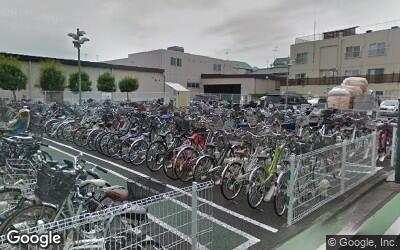 駐輪場の風景