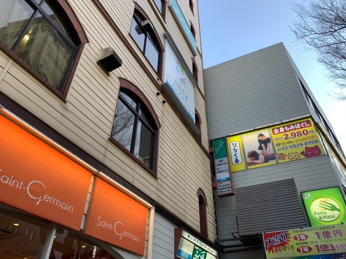 エイブル阿佐ヶ谷店の看板のあるビル