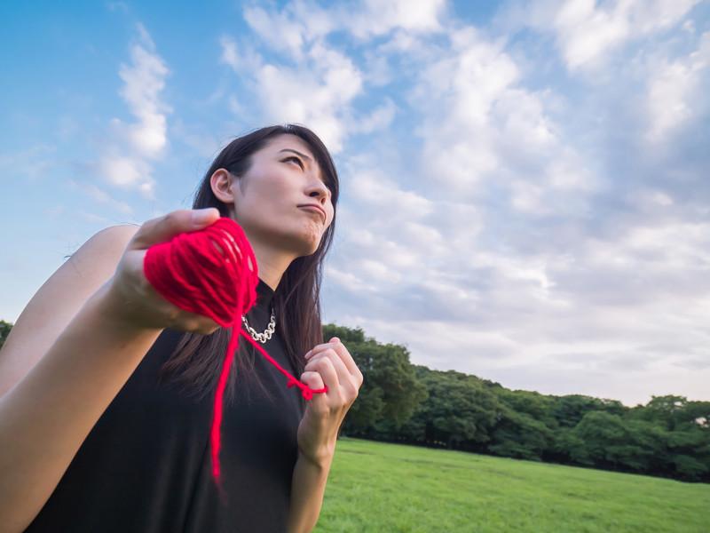 赤い糸を操る具現化系女子