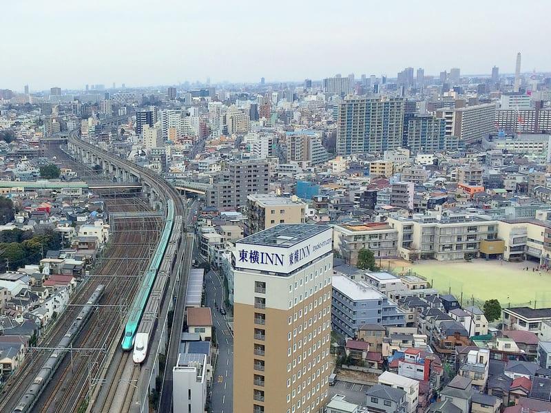 王子神谷駅の風景