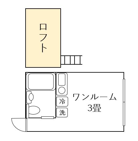 3畳間取り図