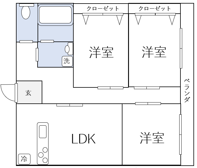 3LDKの間取り図