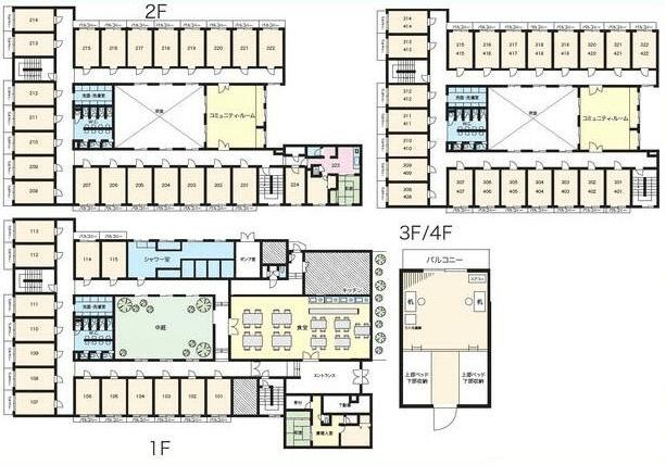 50人以上が入居できる大規模なシェアハウス