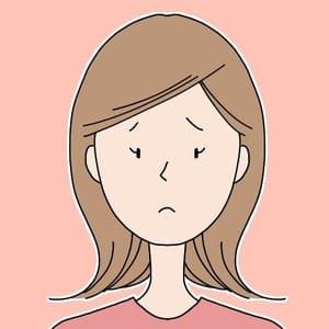 悲しむ女性のアイコン