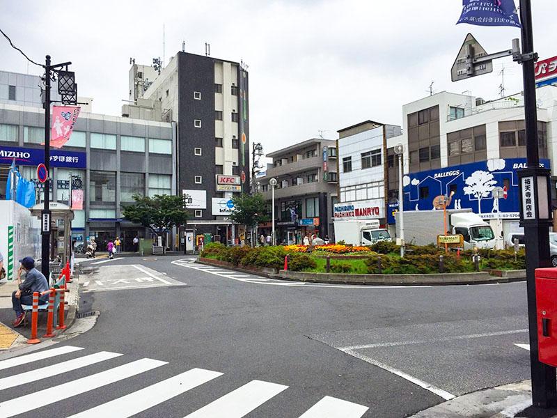 祐天寺駅周辺の景色