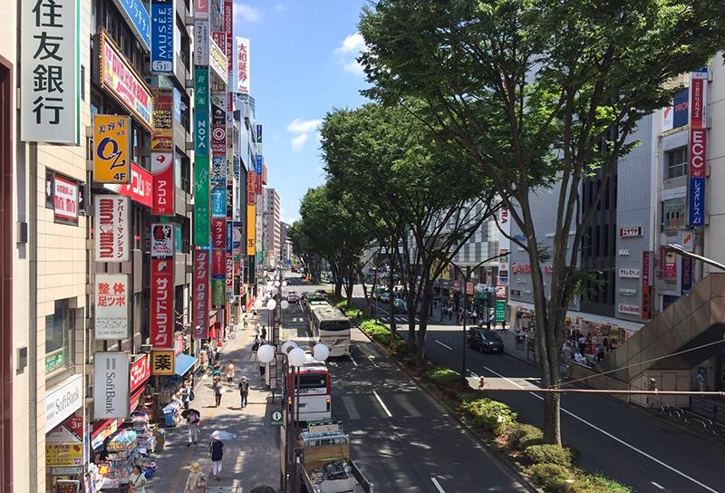 立川駅周辺の景色